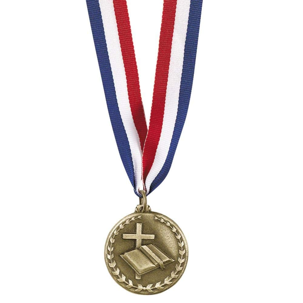 Personalized Religious Goldtone Medal