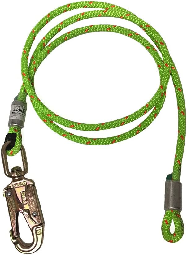 "ROPE Logic 1/2"" X 12' Wire Core Swivel Snap Green Flipline, Orange"