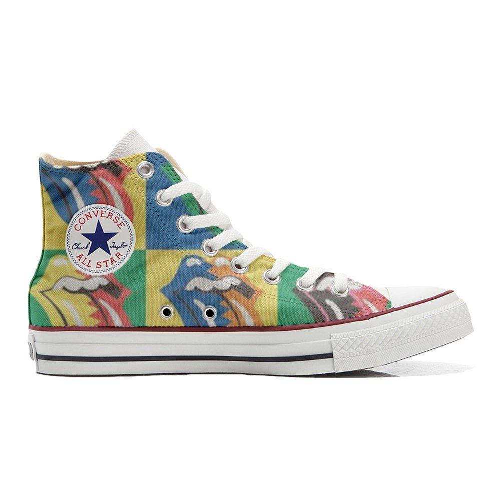 Converse All Star Customized - Zapatos Personalizados (Producto Artesano) Rolling Stones 37 EU