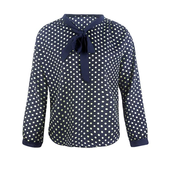 Blusa Hombre Yesmile Camiseta Camisa de Gasa de Manga Larga con Cuello en V para Mujer