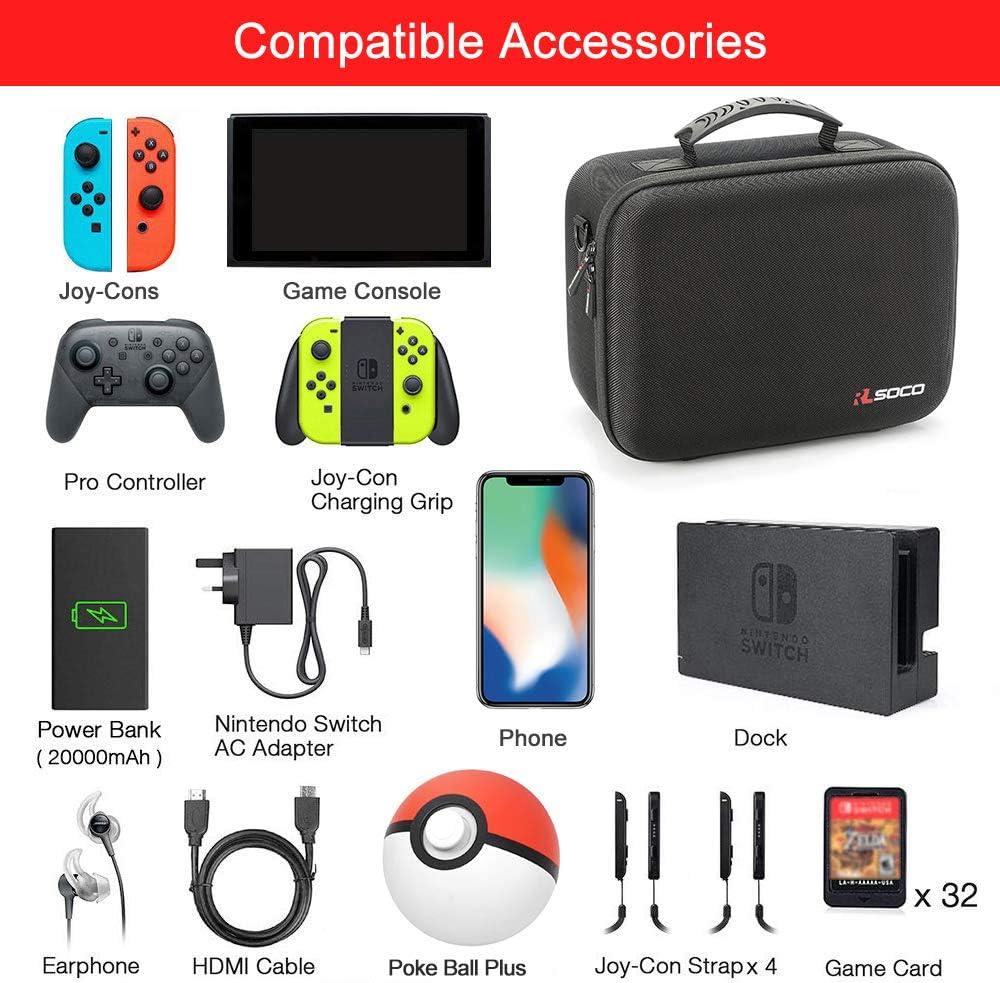 RLSOCO Funda de Juego para Nintendo Switch Console y Accessories ...