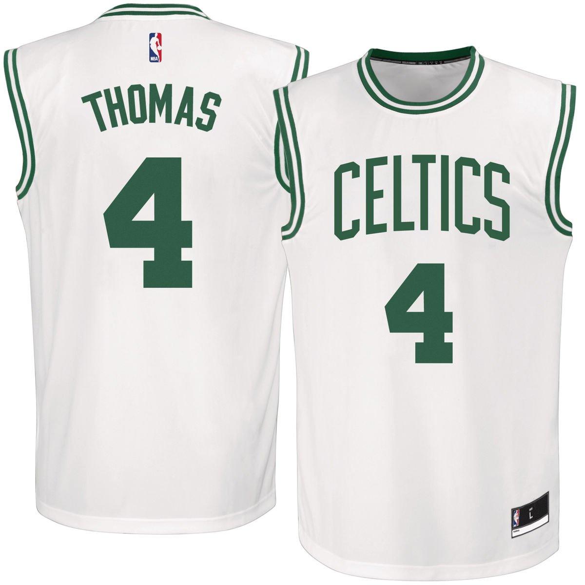 online store f4ac2 d9304 Isaiah Thomas Boston Celtics #4 White Youth Replica Jersey