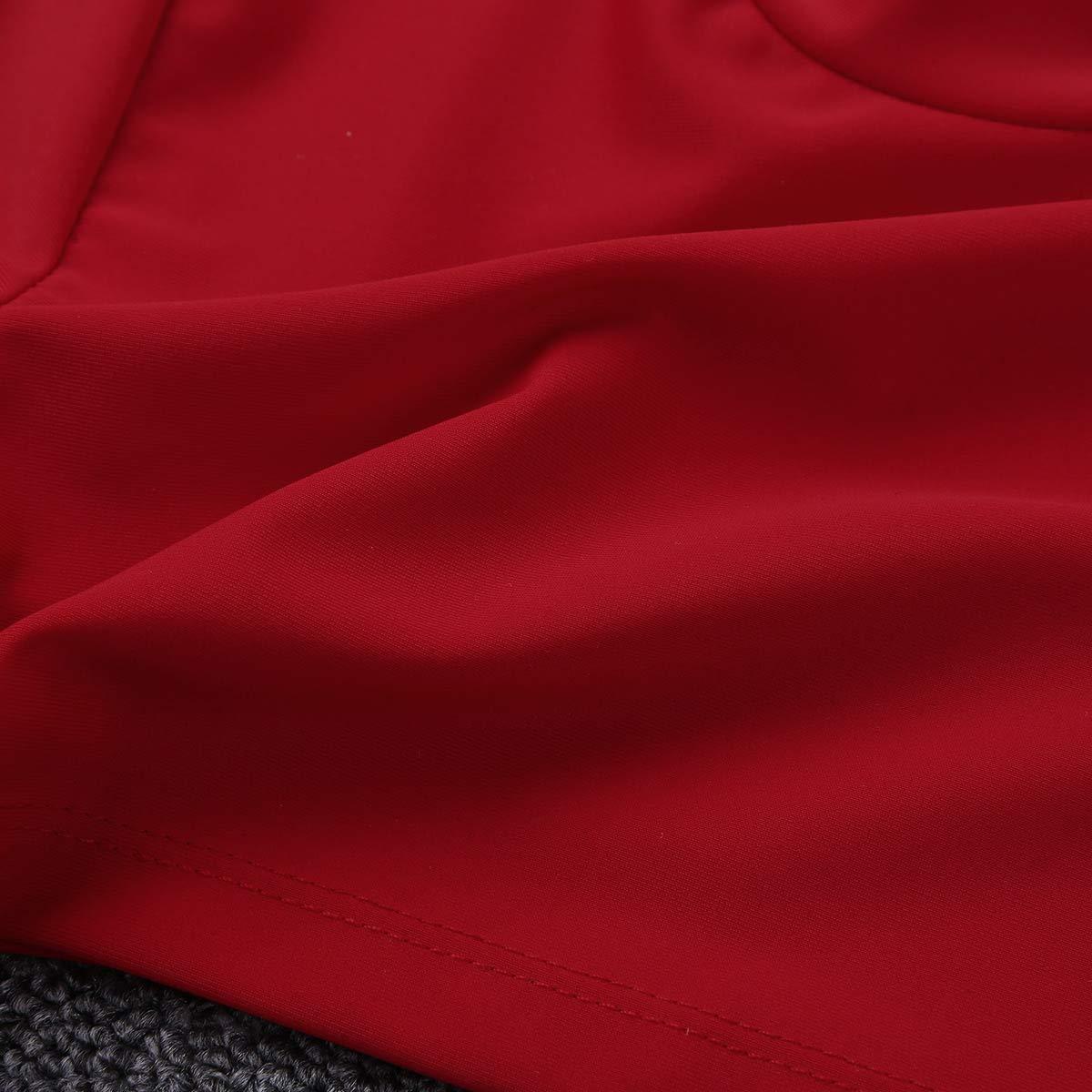 dPois Girls Athletic Tshirt Long Sleeve Cheerleading Turtleneck Crop Top for Dancing Yoga Gymnastic Performance Workout