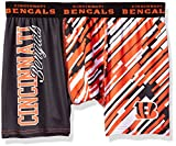 KLEW NFL Cincinnati Bengals Wordmark Underwear, X-Large, Orange