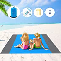 Sand Free Beach Blanket Picnic Blanket, MissRui Extra Large 210x200cm/78.7''x82.7'' Waterproof Sandproof Beach Mat with…