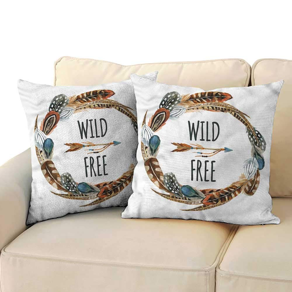 Amazon.com: RuppertTextile Feather Personalized Pillowcase ...