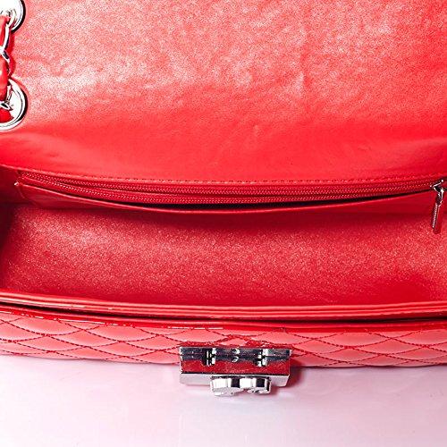 mujer rojo color Estilo Bolso para Clásico de BBFB087 04A en Barbie Nuevo bolera v67awqZn