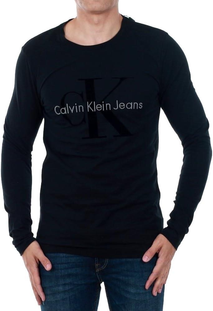 Calvin Klein - Camiseta - para Hombre Negro M: Amazon.es: Ropa y ...