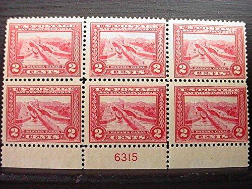 US Stamp 1913 2c Pan-Pacific 6 Stamp Plate Block NH ()