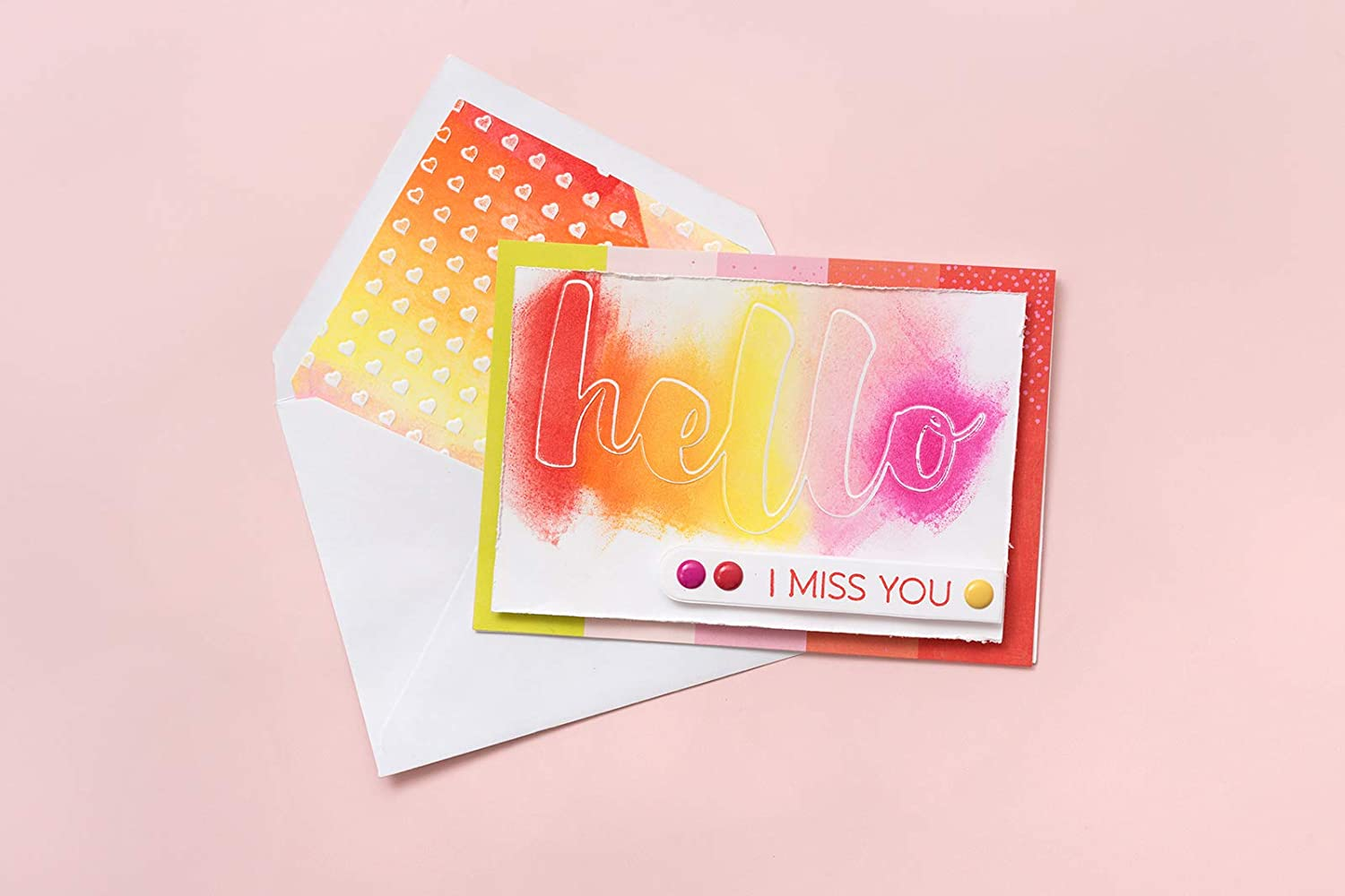 Multi American Crafts 352086 Hello You Embossing Folders and Stamps