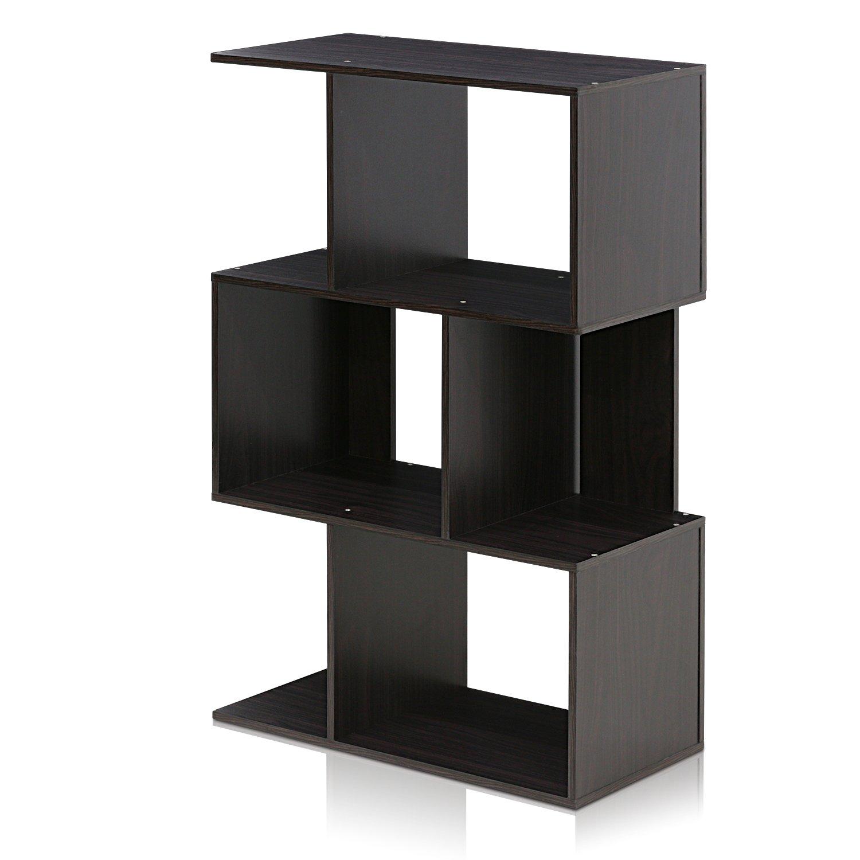 Furinno FR16120EX Simply Modern 3-Tier Open Book Shelf
