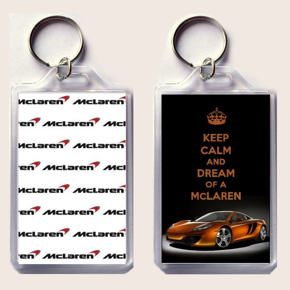 Amazon.com: Keep Calm And Dream de un McLaren Llavero ...