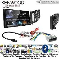 Volunteer Audio Kenwood DMX7704S Double Din Radio Install Kit with Apple CarPlay Android Auto Bluetooth Fits 2009-2010 Ram 2011-2014 Chrysler 200 (REF, REC, and RAK Factory Radios)