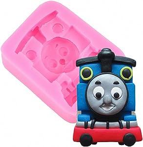 MoldFun Thomas Train Engine Silicone Mold for Sugar Craft, Gum Paste, Fondant, Cake Decorating, Polymer Clay