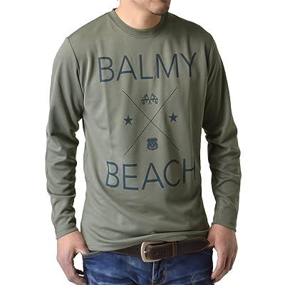 (アルージェ) ARUGE ドライ 吸汗速乾 長袖 Tシャツ ロンT ムジ アメカジ ロゴ ミリタリー メンズ / H5X