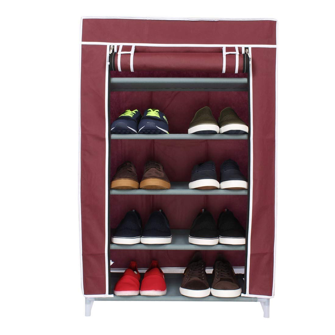 Sattva Premium Foldable Shoe Cabinet/ Shoe Rack 5 Shelves