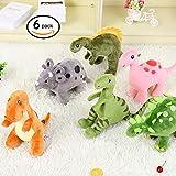 HugeHug Plush Jurassic Dinosaur Family Set Stuffed Toy for Kids - 6-Piece 15 inch by