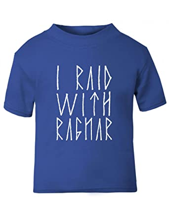 6f621c9b3 Cocos Baby Closet Baby-Toddler Tshirt - Royalblue - 4-5 - I Raid With  Ragnar - Vikings Funny: Amazon.co.uk: Clothing