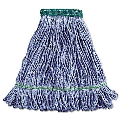 Boardwalk 502BLEA Super Loop Wet Mop Head, Cotton/Synthetic, Medium Size, Blue