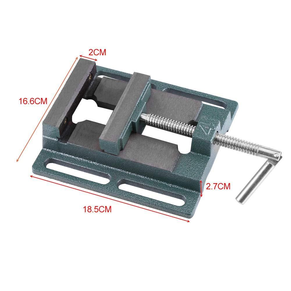mesa de estado Tornillo para taladro de columna apertura de mand/íbula 110 mm Drill Press Vice banco alicates de apertura paralela