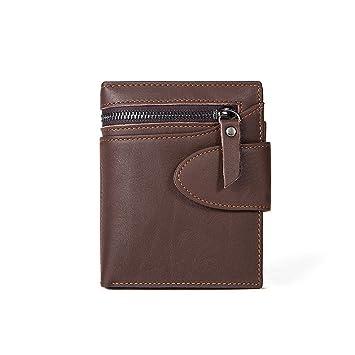 ae378c476a28f Herren Geldbörse Münzfach Leder kurze Absatz Business Männer und Frauen  Brieftasche Geschenk für Null Wallet Card
