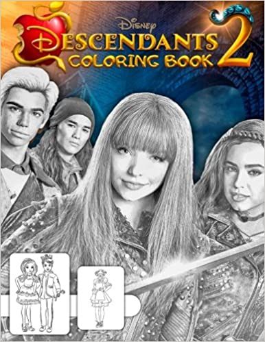 Descendants 2 Coloring Book Great Book For Teens And Kids Kevin