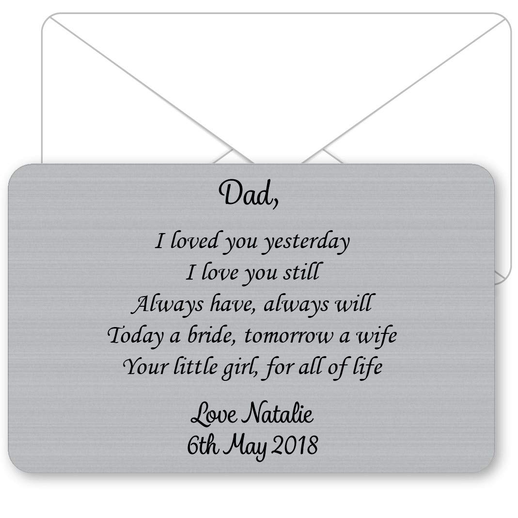 Personalised Double Side Keyring Dad Father of the Bride Wedding Gifts Name Date