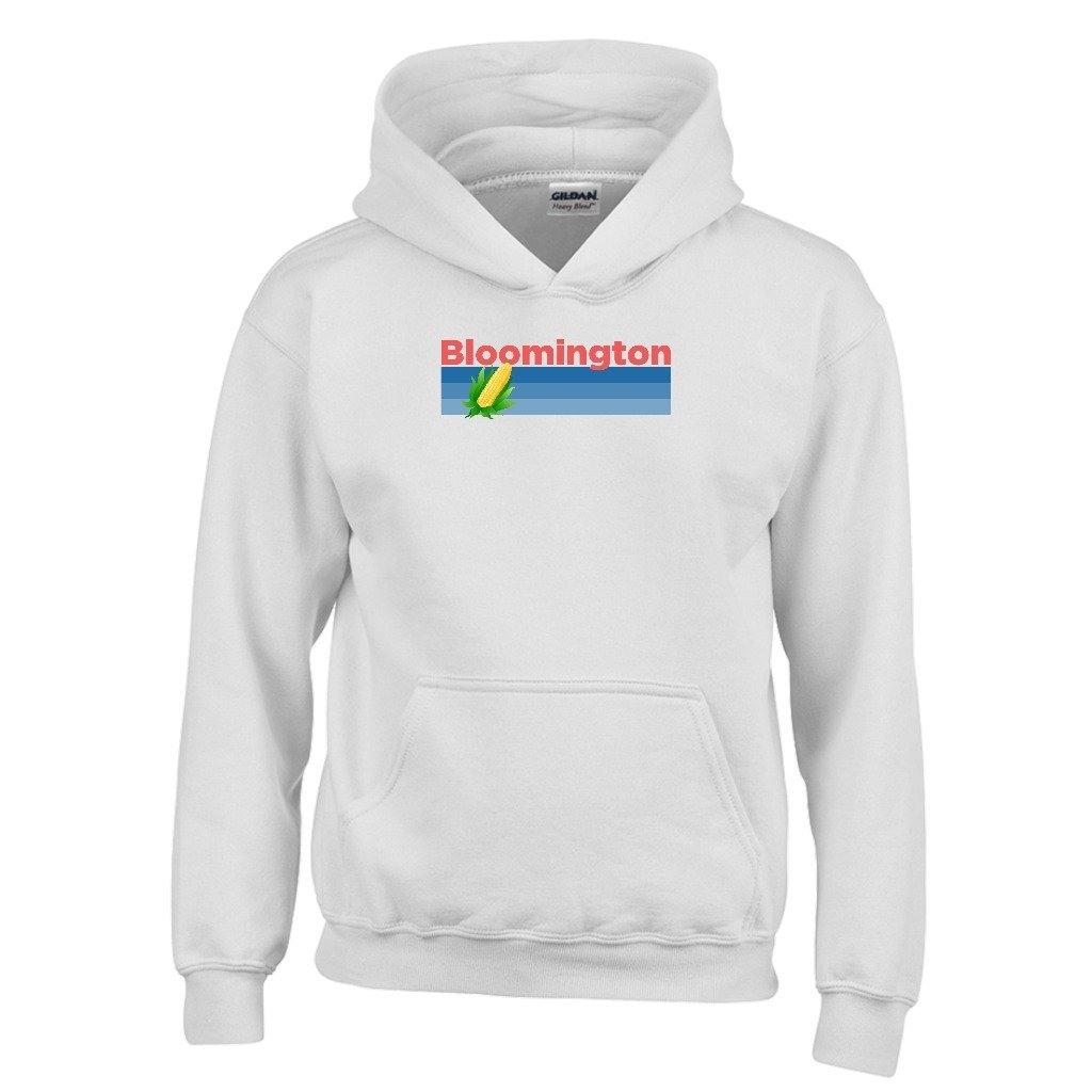 Illinois Kids Sweatshirt Tenn Street Goods Bloomington Retro Corn /& Farm Youth Hoodie