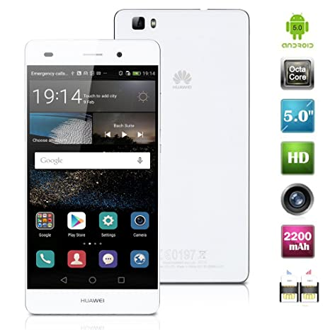 HUAWEI P8 Lite Dual Sim de Color Blanco - Smartphone Completamente ...
