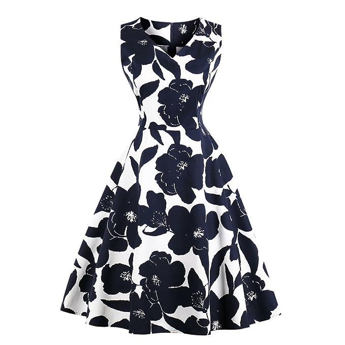 e78cedb6e9e9d Blazar Women s Plus Size Vintage Party Dresses 1950s Rockabilly Audrey  Summer Dresses Retro Cocktail Dress for