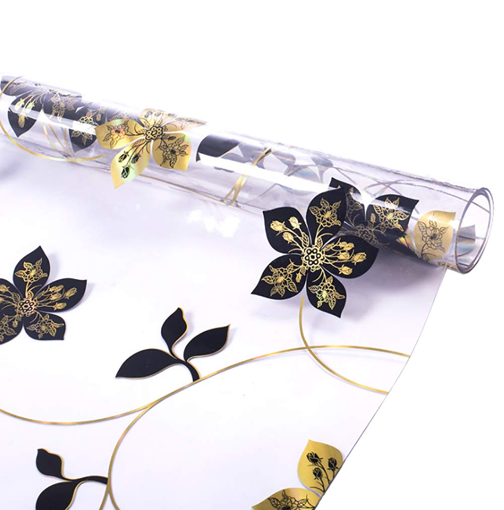 RayBoard PVC Table Cover clear table pad Protector Table Cloth Desk Pads Mats 1.5MM Crystal Transparent Flower Clear Environmentally Waterproof Soft Glass Multi-Size | Rectangular39.5×60inches by RayBoard