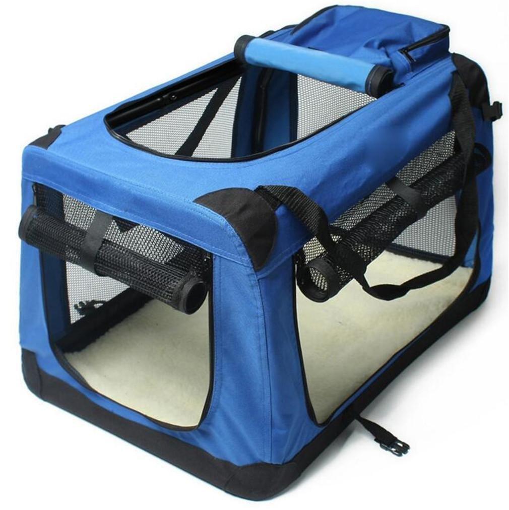 NWYJR Haustier-Rucksack Pet Carrier faltbare Handtasche Auto-Paket Soft-Sided Mesh Fenster Outdoor Wandern kleine mittlere Hunde