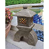 Design Toscano Japanese Pagoda Illuminated Lantern Statue - Set of 2