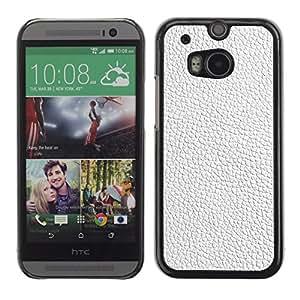 Paccase / SLIM PC / Aliminium Casa Carcasa Funda Case Cover para - White Texture Textile Interior Design Pattern - HTC One M8