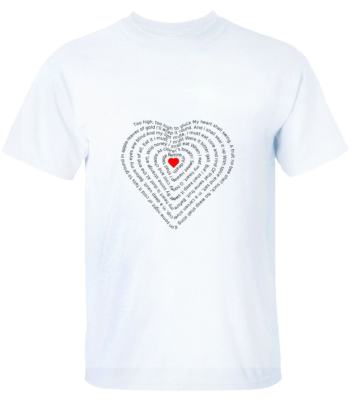 Sansiwoman Arranged In A Heart Shaped Text T Shirts For S 4078