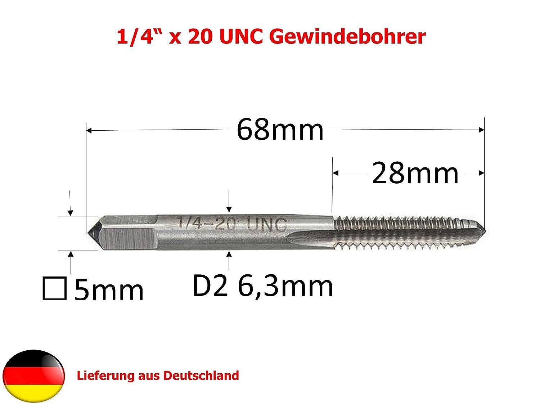 2B UNC No Unified National Coarse Grobgewinde: Satz DIN 352 DIN 352 RH 3-teilige S/ätze Pr/äzisions Handgewindebohrer HSSG 6 x 32