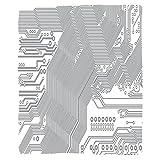 VROSELV Custom Blanket Digital Computer Motherboard Electronic Hardware Technical Display Futuristic Plan Design Soft Fleece Throw Blanket Grey White