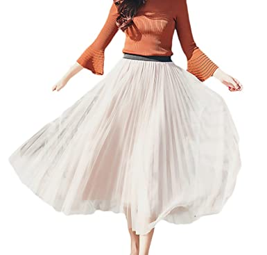 Mujer Falda Plisada Faldas Largas Verano Vintage Elegantes ...
