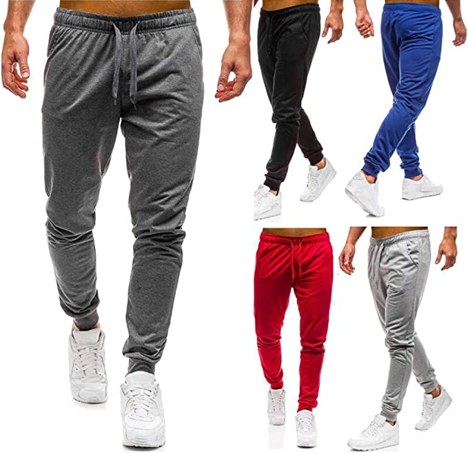 Minetom Homme Pantalon De Sport Jogger Fitness Loose Slim Casual Running Training Gym Sweatpants Mode /Ét/é Automne