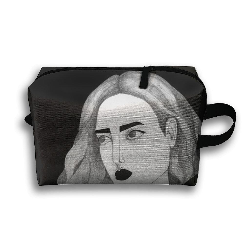 Short Hair Girl Storage Bag Portable Travel Makeup Bag Travel Bag Cosmetic Case