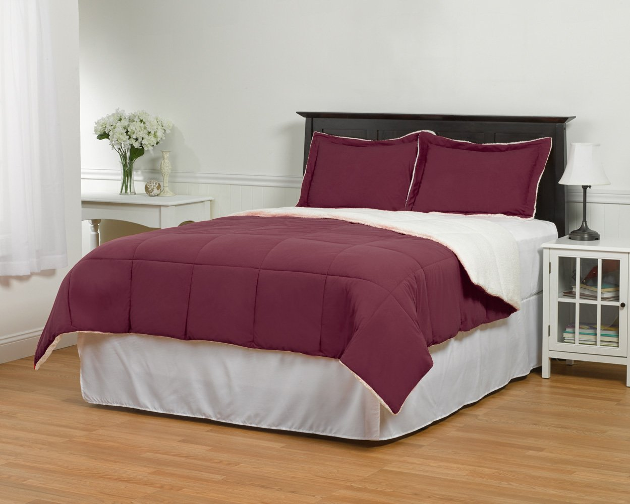 Reversible 2 Piece Sherpa Comforter Set