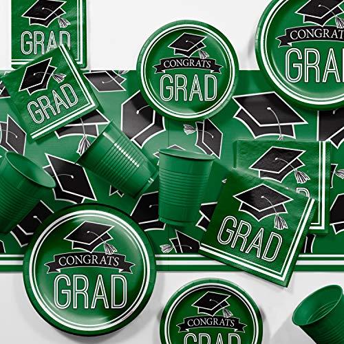 (Graduation School Spirit Green Party Supplies Kit, Serves 36)