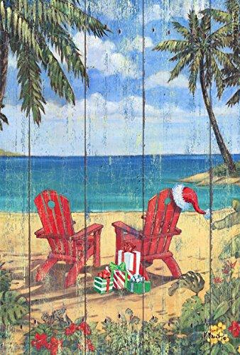 - Toland Home Garden Christmas Paradise 28 x 40 Inch Decorative Beach Adirondack Tropical Island Vacation House Flag - 1010812