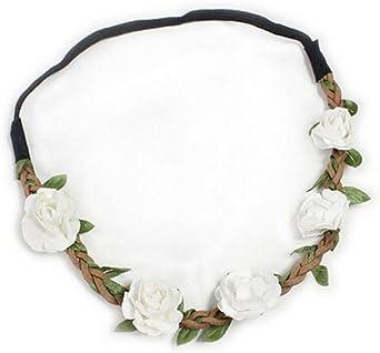 Flower Headband Head Garland Hair Band Crown Wreath Festival Boho Hippy LD