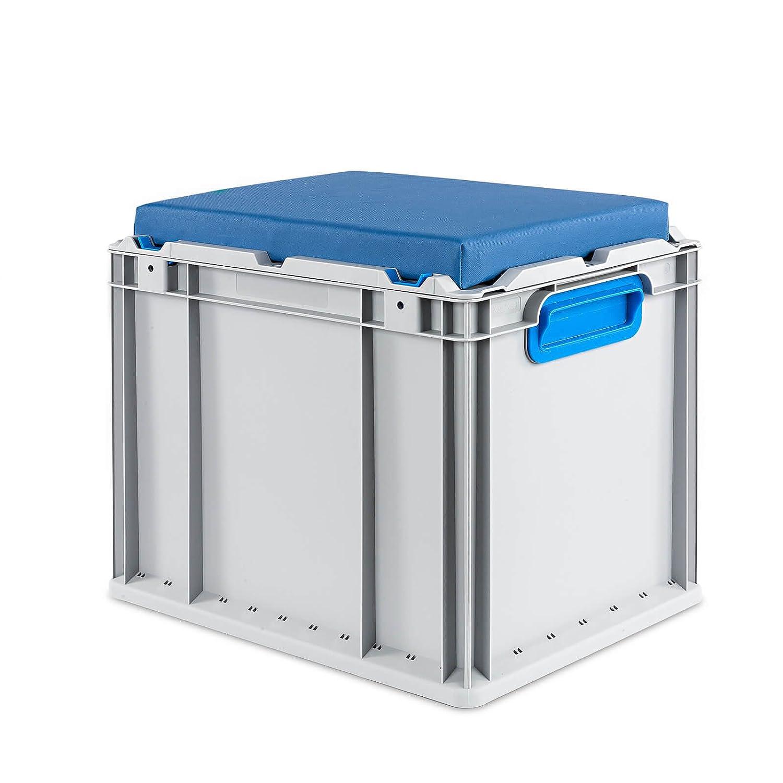 ab in die box eurobox seat box blau 400x300x365 mm. Black Bedroom Furniture Sets. Home Design Ideas