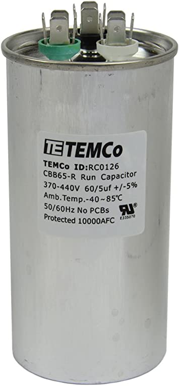 5 uf MFD 370//440 Volt VAC ClimaTek Oval Capacitor fits Service First # CPT412 CPT0412