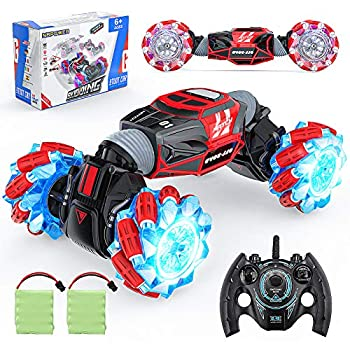 RC Automobiles, NBPOWER 4WD 2.4GHz ON/Off-Street Distant Management Automobile Truck 360° Rotation 20 Km/H RC Stunt Automobile 1:16 with 2 Batteries Gentle Misic RC Crawler Automobile for Boys Children Teenagers and Adults