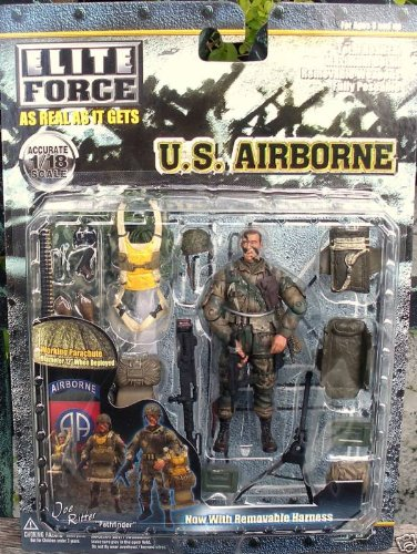 Elite Force 1 18 Toy : Bbi elite force u s airborne paratrooper paul burgess