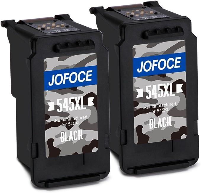 Jofoce Remanufacturado Canon PG-545XL Cartuchos de tinta (2 Negro ...