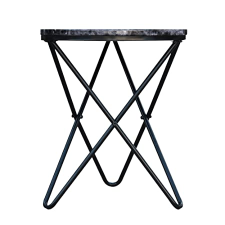 Effet MarbreBout D'appoint Interougehome Ikayaa Noir Table uTKc351JlF